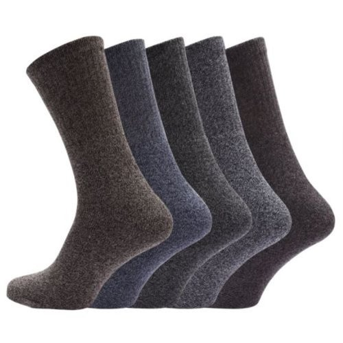 5 Pairs Hiking Walking Terry Lined Work Cushion Sole Socks 6/11