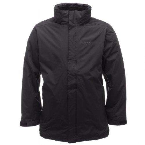 Regatta Men's Telman 3 In 1 Water Proof Jacket - Black/Black, Medium