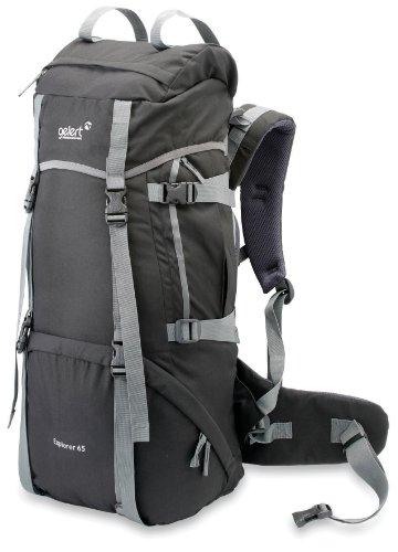 Gelert Explorer Rucksack - Black, 65 Litre a little bit about hikingboot