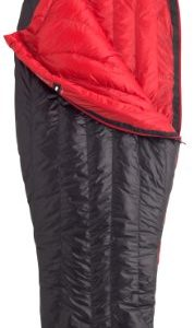 Marmot Plasma 40 Down Sleeping Bag, 20010-1181-L, Black/Team Red, LZ