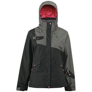 Scott W Hollis 80 Jacket - Dark Grey / Black - S - Womens waterproof windproof Gore-Tex® snow sports jacket