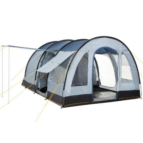 CampFeuer® - Big Tunnel-Tent, Blue / Grey