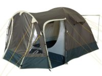 CampFeuer® - Igloo/Dome-Tent with Porch, 3-4 Persons, khaki / dark green