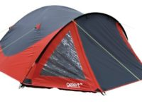 Gelert Rocky 4 Person Tent - Mars Red/Charcoal