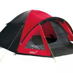 Gelert Rocky 4 Tent Festival camping shelter - Mars Red/Charcoal