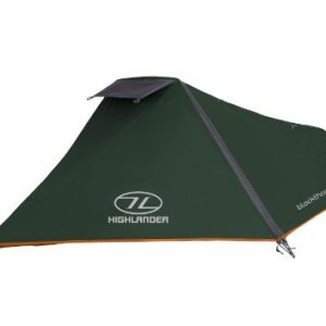 Highlander Blackthorn 1 Tent - Hunter Green/Orange Trim