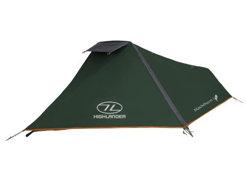 Highlander Blackthorn 1 Tent - Hunter Green/Orange Trim