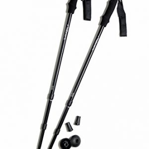 Pair of Trekrite Antishock Hiking Sticks / Walking Poles - Black