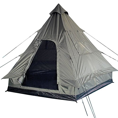 Pyramid Tent Tipi Indian Style Camping Festivals Hiking Outdoor 4 Person Olive