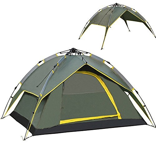 TOP-TENT®Pop-Up 3 3-4 Person Automatic Open Family Tents Color Green,TT803