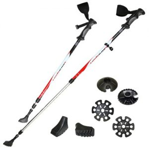 Ultrasport Walking Sticks with Anti-Shock and 3M Reflector
