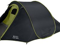 Vango Dart Double Skin Pop up Tent - Black, 3 Person