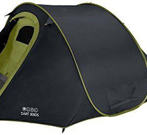 Vango Dart Double Skin Pop up Tent - Black, 3 Person