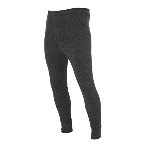 FLOSO® Mens Thermal Underwear Long Johns/Pants (Standard Range) (Waist: 33-35ins (Medium)) (Charcoal)