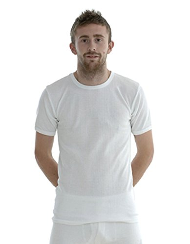 3f17c400 Mens Boys Thermal Long Johns T Shirt Top Vest Underwear Bottoms Trousers  Suitable for Winter, Outdoor Work, Travel, Camping & Ski Wear (XL, T Shirt  – White)