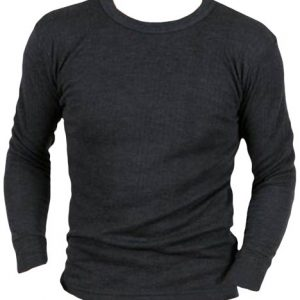 Mens Boys Thermal Underwear Long Sleeve T-Shirt Vest Top Ski Work Winter In 3 Colours Sizes Small Medium Large X Large XX Large (Large, Grey)