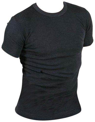 Mens Thermal Short Sleeve T shirts Vests Winter Ski Work White Size Small Medium Large X Large XX Large (Large, Grey)