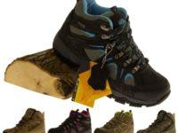 Womens Leather NORTHWEST TERRITORY Hiking Walking Hi Top Waterproof Work Boots