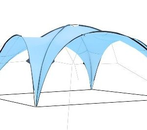 CampFeuer® - Event Shelter, Event Pavilion, Gazebo, 4.5 x 4.5 m, light-blue