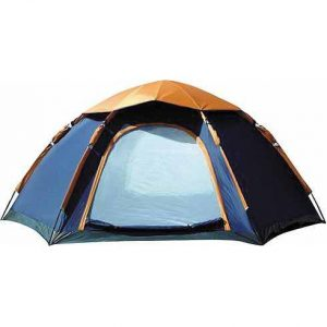 CampFeuer® - Hexagon Camping Tent, Blue-Orange