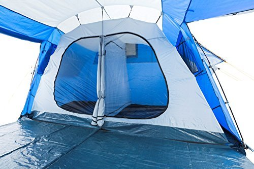 Campfeuer 174 Modern 2 Cabin Tunnel Tent Large Entrance Area