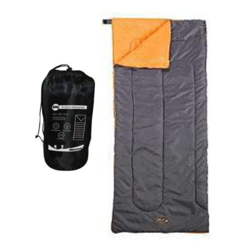 Milestone Camping Envelope Sleeping Bag - Black