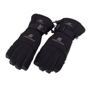 dodocool Men Fleece Thermal Winter Waterproof Warm Gloves with Palm Grip for Outdoor Cycling Skiing Hiking Black