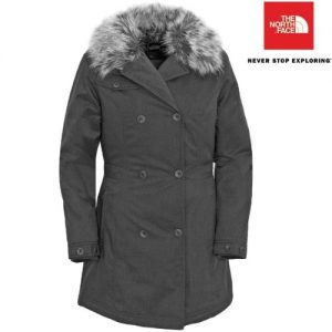 The North Face Women's Boulevard Jacket (L, Graphite Grey)
