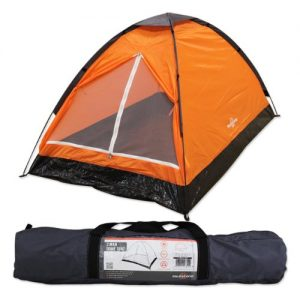 Milestone Camping Dome Two Person Tent - Orange