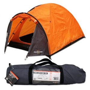 Milestone Camping Super Dome Two Person Tent - Orange
