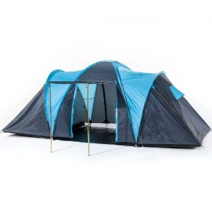 Skandika Hammer Fest 4 Spacious Dome Tent - Blue/Black, 4 Persons