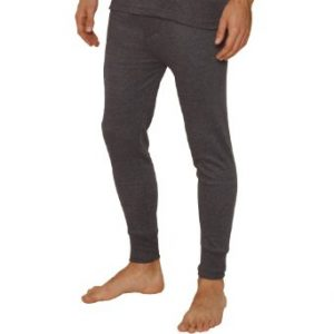 OCTAVE® Mens Thermal Underwear Long John / Long Underwear (Large, Charcoal)