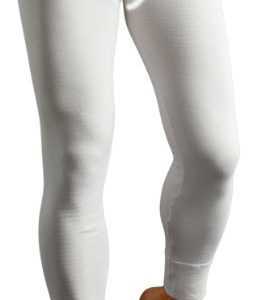 Socks Uwear® Mens Base Layer Warm Thermal Long John Underwear Ski Small White