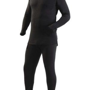 Ultrasport Men's Thermal Underwear Set with Quick-Dry Function - Black, Medium