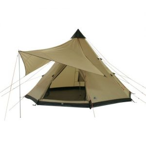 10T 8 person Tent SHOSHONE 400 HH=5000mm stiched groundsheet + shade sail
