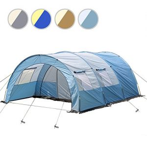 4 Persons Camping Tunnel Tent DIFFERENT COLOURS (Blue)