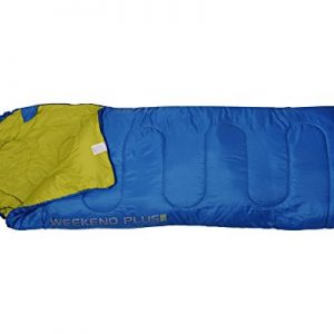 4F Weekend Mummy Camping Sleeping Bag (blue and green)