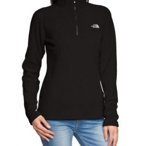 The North Face Women's 100 Glacier 1/4 Zip Hoodie - TNF Black, Large