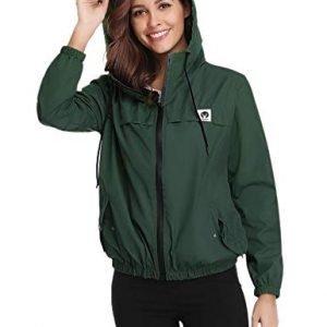 Abollria Women Rain Jacket Waterproof with Hood Lightweight Active Outdoor Windbreaker Raincoats