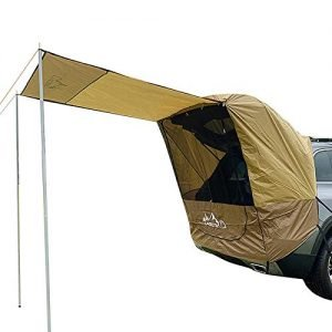 Car Awning Sun Shelter, Waterproof Auto Canopy Camper Trailer Tent Tailgate Awning Tent Roof Top For SUV, Minivan, Sedan, Camping, Outdoor
