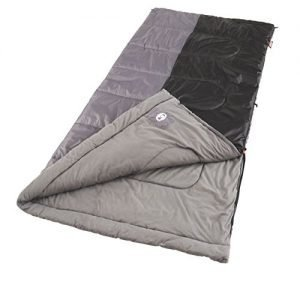 coleman biscayne 81x39 inch rectangle sleeping bag blck/grey