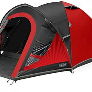 coleman tent the blackout, festival camping tent with blackout bedroom technology, festival essential, dome tent, 100% waterproof with sewn in groundsheet