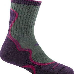 darn tough light hiker micro crew light cushion socks - women's moss/eggplant medium by darn tough