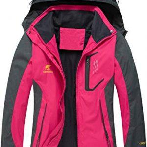 Diamond Candy Women's Waterproof Jacket Outdoor Hooded Raincoat