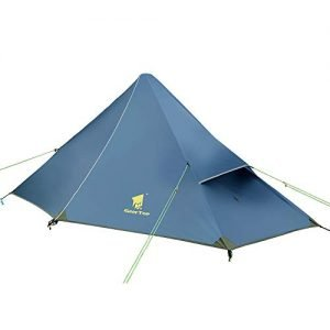 Geertop dome mini tent, rucksack tent, 20D ultralight, 210 x 90 x 105 cm, one person, 3 seasons: for camping hiking climbing (not included), Eisenblau