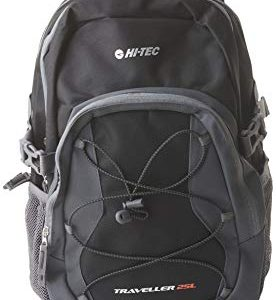 hi-tec unisex's traveller back pack, black/anthracite, one size