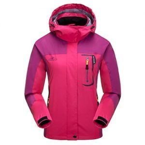 LHHMZ Women's Outdoor Windproof Hiking Jackets Lightweight Breathable Softshell Casual Coats Walking Cycling Skiing Jackets with Hood