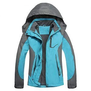 LHHMZ Womens Windproof Hiking Jacket Lightweight Breathable Waterproof Outdoor Softshell Casual Coats with Hood