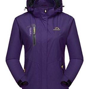 MAGCOMSEN Womens Outdoor Hiking Jackets Lightweight Waterproof Softshell Rain Jacket with Hood