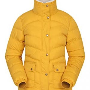 Mountain Warehouse Fir Womens Padded Jacket - Water Resistant Ladies Puffer Jacket, Warm Winter Coat, Detachable Fur Trim - Ideal for Walking, Travelling & Hiking